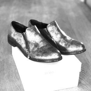 Ladies metallic BCBG casual shoe